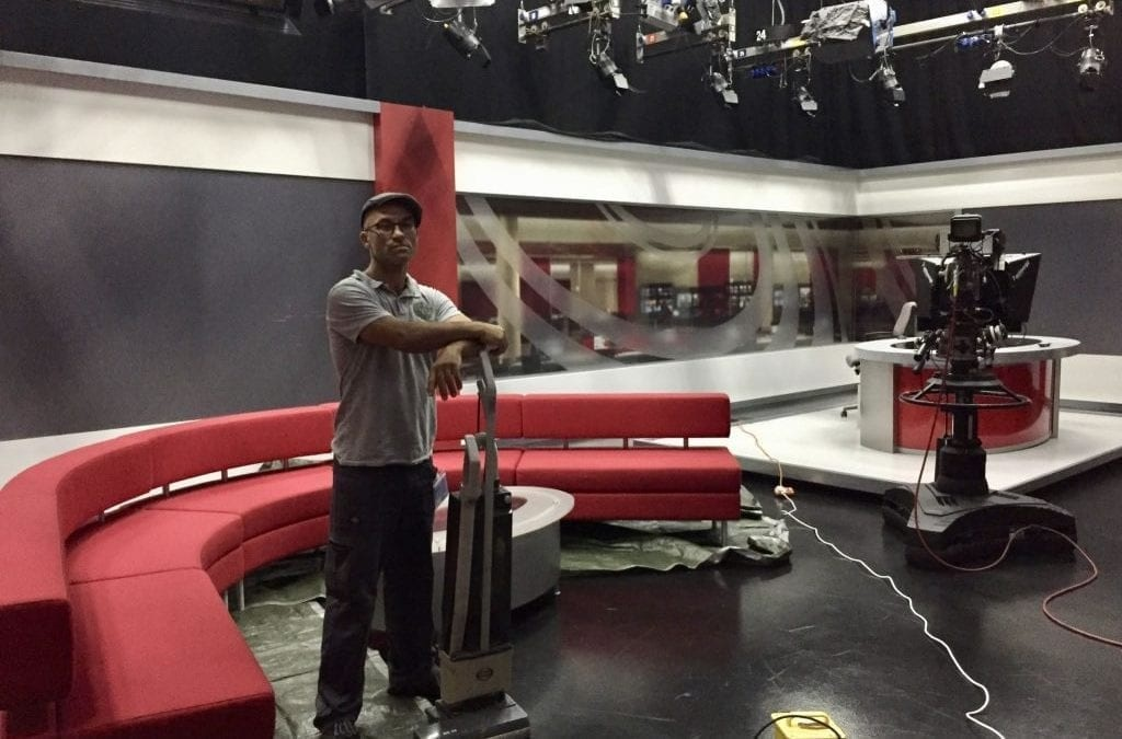 Cleaning the BBC Points West sofa