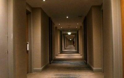 Hotel corridor carpet cleaning in Bristol