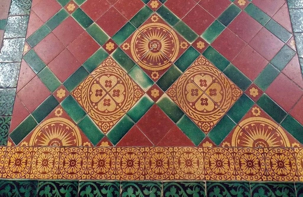Close-up image of Victorian quarry tiling