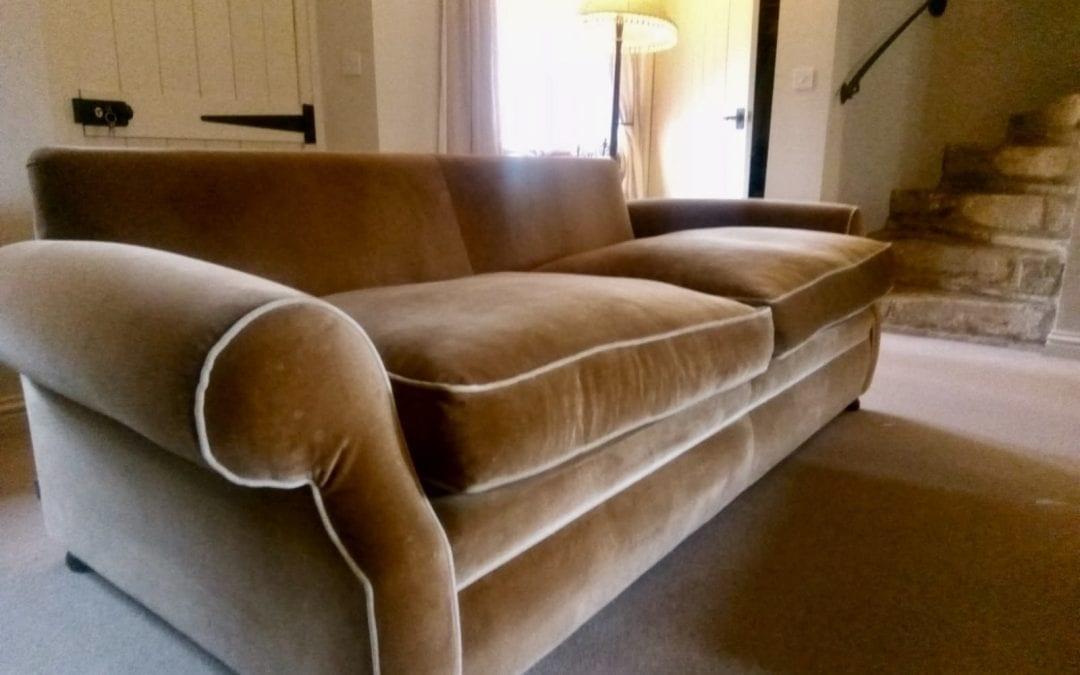Professional velvet upholstery cleaning