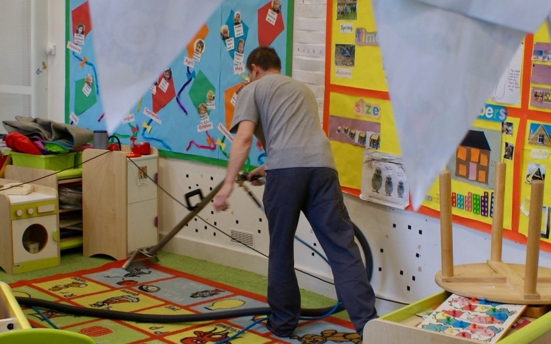 Case study: Deep-cleaning of carpets, hard-flooring, rugs & upholstery in a Bath school