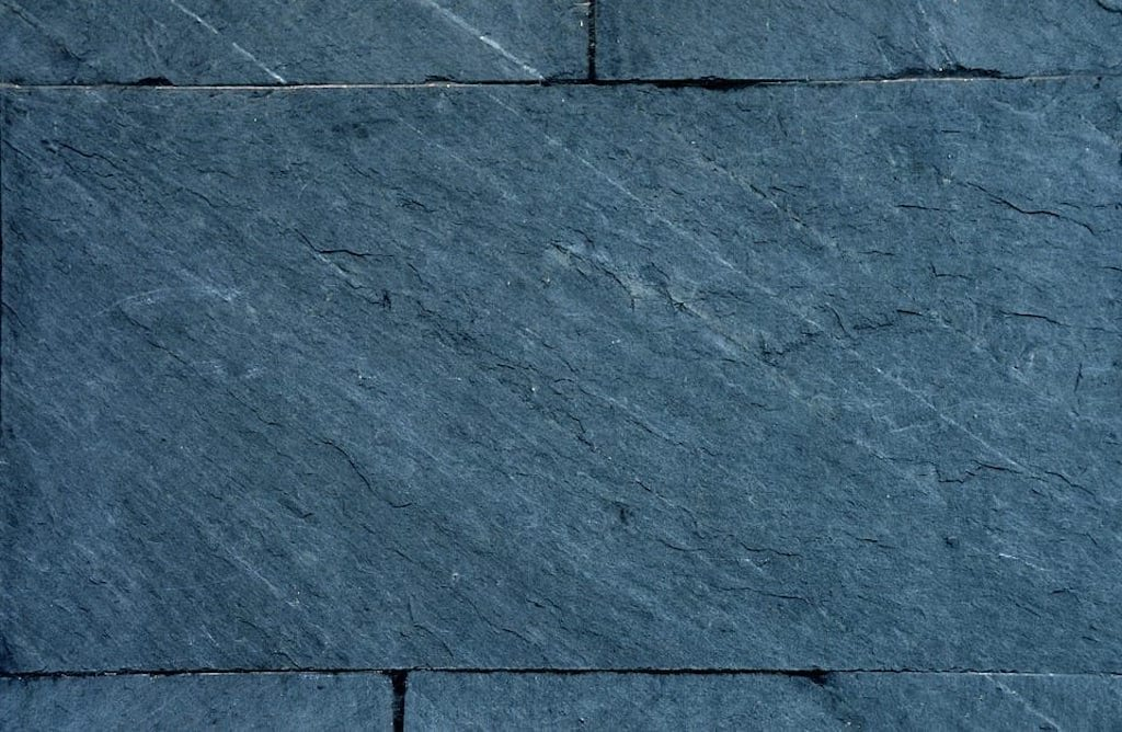 Close-up of a slate tile.