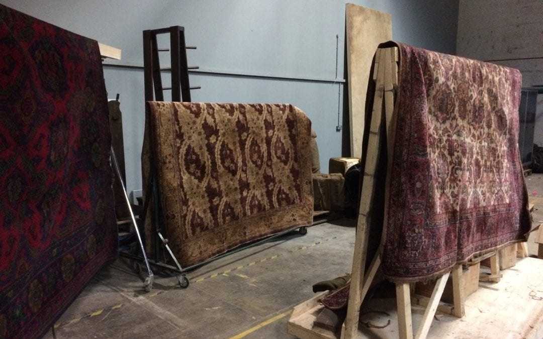 Rugs from a medieval scene…